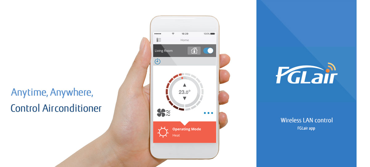 Anytime, Anywhere, Control Airconditioner with FGLAir app
