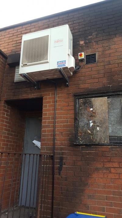 Fire damaged unit